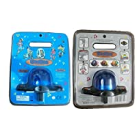 BeeBaa Toy Police Siren with Flashing Blue Light and Dual Volume Control