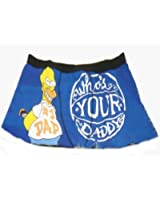 The Simpsons Official Homer Gift Mens Boxer Shorts Blue (RRP £9.99!) Small