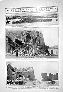1916 PRISONNIERS FRANÇAIS D'ALLEMAND DE VERDUN DE BATAILLE DE SOLDATS DE LA BATTERIE DOUAUMONT DE GUERRE
