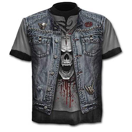 Talla S - C01 - T-Shirt - Camiseta - 3D - Mangas Cortas - Hombre...