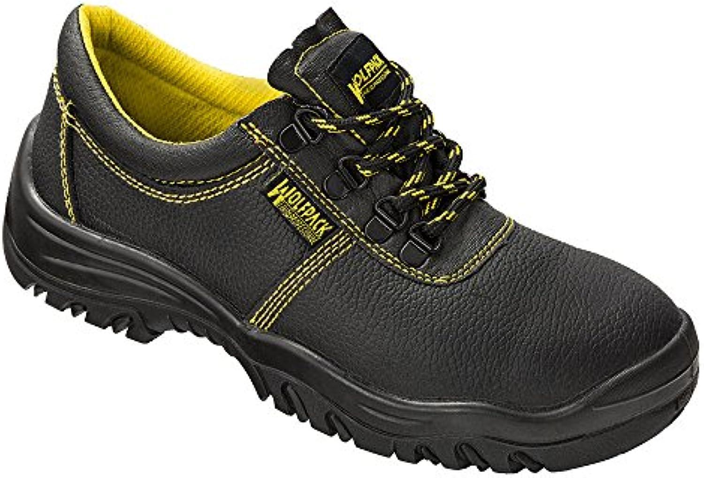 Wolfpack - Zapatos seguridad piel, color negro Nº 46