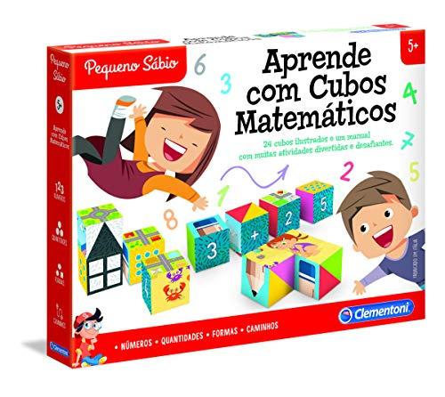 Clementoni - APRENDE COM OS CUBOS MATEMÁTICOS (67621 - Versión Portuguesa)