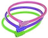 Prophete Spiralkabelschloss Fahrradschloss, Farblich Sortiert:Grün,Pink, M