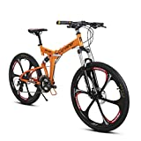 Extrbici VTT Pliant 26' RD100 Vélo de Montagne avec Suspenion Complète & 24 Vitesses