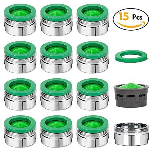 EFANTUR 15 Stück Strahlregler M24 Luftsprudler für Wasserhahn, Mischdüse mit ABS-Filter