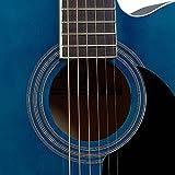 Stagg sa20ace Bleu Auditorium Guitare électro-acoustique pan coupé-Bleu