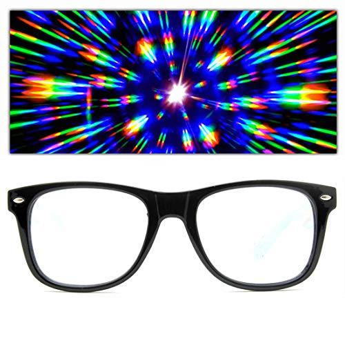 GloFX Herren Beugung Gläser Einheitsgröße schwarz