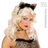 Haarreif * LEOPARD * mit Strass als Verkleidung für Karneval oder Motto-Party // Kostüm verkleiden