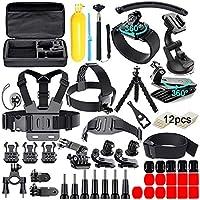 مجموعة إكسسوارات كاميرا 61 في 1 لكاميرا GoPro Hero 8 7 6 5 4 Hero Session 5 أسود SJ4000 5000 6000 Xiaomi Yi AKASO Campark Action Camera