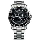 Victorinox Swiss Army men's Quartz Watch Chronograph Display and Stainless Steel Strap 241695