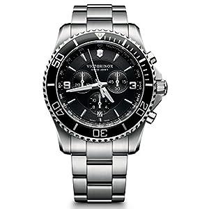 Victorinox Herren-Armbanduhr Maverick Chronograph Quarz Edelstahl 241695