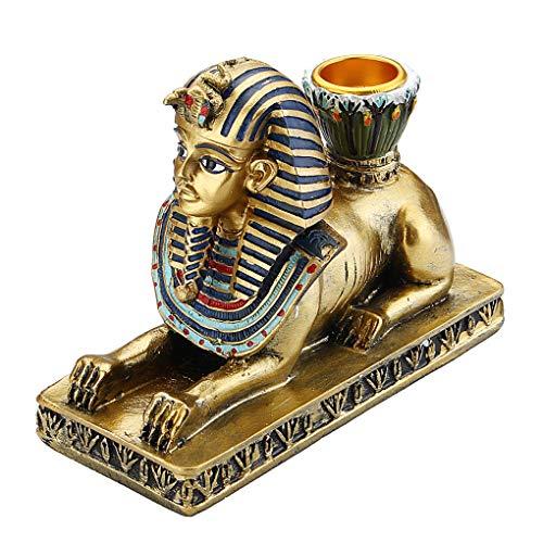 """Material: Resina  tema: la gente  Estilo: Nostálgico y / muebles viejos  Sphinx: 6.5X13.5X11CM / 2.6 """"X5.3"""" X4.3""""  diosa egipcia: 6.5 X10X20CM / 2,6 """"x 4"""" x8 """" Anubis: 6X9X20CM / 2.4"""" X3.5 """"X8""""  Tipo: Los titulares egipcia figura de resina de velas  ..."""