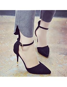 SDKIR-In estate la parola Baotou detenuti sandali, femmina nera sexy bella con wild, a tacco alto scarpe ,35,...