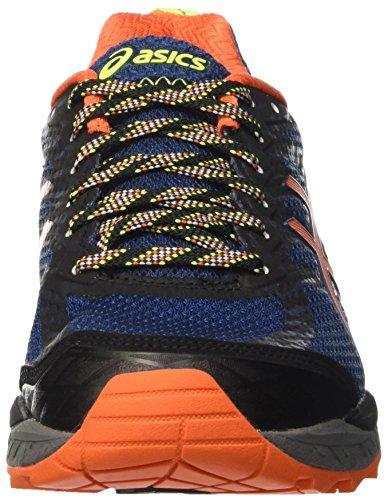 Asics Gel-Fujitrabuco 5, Scarpe trail-running Uomo Blu (Poseidon/Flame Orange/Safety Yellow)