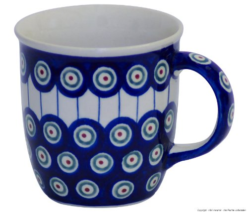 Bunzlauer keramik tasse v = 0,35 l motif 8