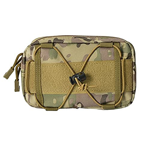 Smartphone Tasche,Cocohot Universal Mehrzweck Tactical Cover Smartphone Tasche, Sicherheits Pack Carry Case Pouch Belt Taille Bag Gadget Money Pocket für iPhone 6s Samsung Galaxy S7 Note5 LG G5 iPhone (Huawei Ascent)