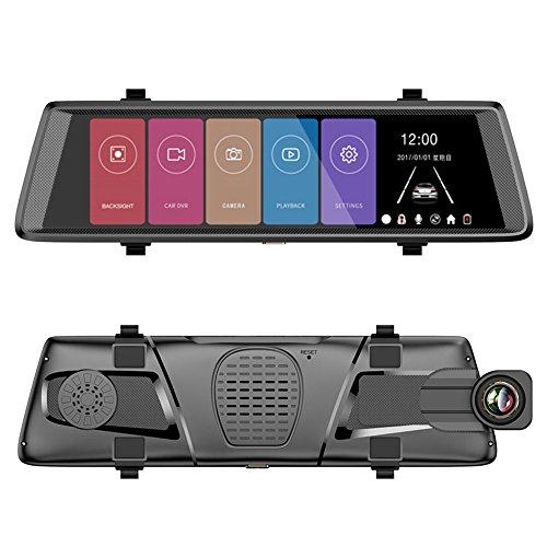 Caméra de Voiture - 10 inch Android Écran Tactile FHD 1920 x 1080 Grand Angle 140° Double Caméras de Voiture Avant et Arrière Dash Cam Caméra avec Boîte Noire
