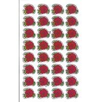 10 fogli di formato medio Rose Adesivi glitterati fiori (320 etichette)