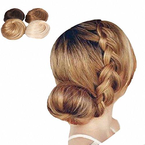 PrettyWit Bridal Hair Boomers Moño Accesorios para Mujeres Postizos Ponytail Updo Ribbon Ponytail Extensiones Piece Wig (Darkest Brown & Dark Auburn 2009)