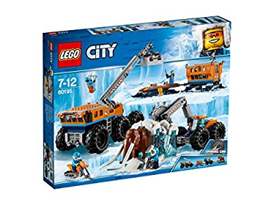 LEGO 60195 City Arctic Mobile Exploration Base Toy, Crane Vehicle Platform and Trailer, Construction Toys for Kids