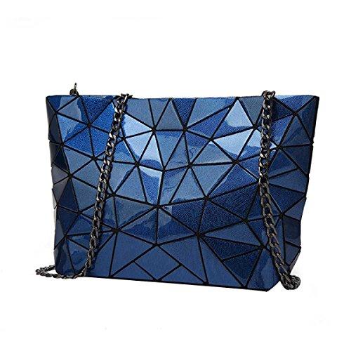 Frauen-geometrische Handtasche Art Und Weisekurierhandtasche Darkblue