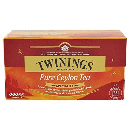 Twinings Speciality - Pure Ceylon Tea - Schwarzer Tee aus den Besten Srilankischen Plantagen - Weicher und Raffinierter Geschmack - den Ganzen Tag trinken, Besser am Nachmittag (50 Beutel)
