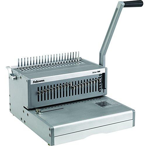 Fellowes 5642601 Rilegatrice a Dorso Plastico Orion, Manuale, Capacità di Rilegatura 500 Fogli, Silver