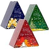 English Tea Shop - 'Pyramiden Box Triple Pack Xmas', 3 verschiedene Geschenkboxen mit je 6 Pyramidenbeutel Weihnachtstees