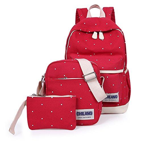 minetom-a-pois-3-pieces-plus-messenger-bag-embrayage-toile-sac-a-dos-loisir-multi-fonction-voyages-s