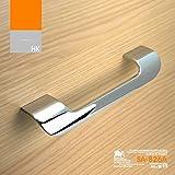 (lote de 2) Viborg alta calidad aleación de zinc moderna Armario de cocina para puerta de armario tirador tiradores de cajón asas, cromado, sa-826a, Hole-to-hole: 128mm
