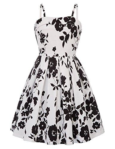 GRACE KARIN Fille Robe Rétro Vintage Robe de Princesse à Bretelles 11~12 Ans FR600-1