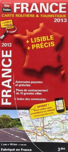 France : Carte routière & touristique 1/1 000 000 par Blay-Foldex