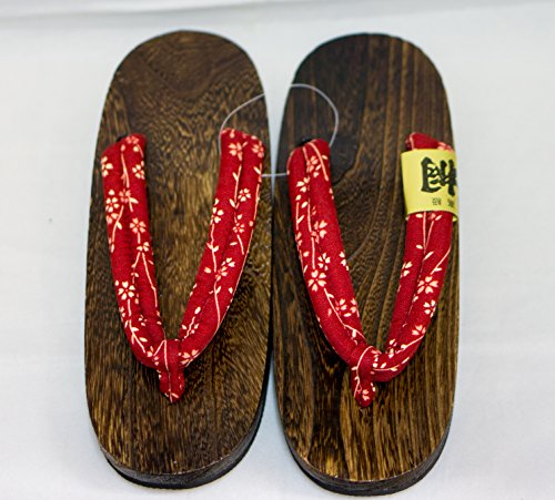 [Japon Made] Geta Paulownia bois Sandals traditionnel Chaussures Taille M 24.5cm (Oogiku) Kozakura