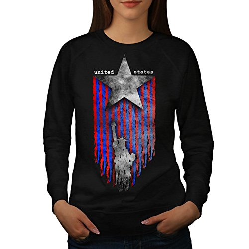 United States Star USA Women L Sweatshirt | Wellcoda (Tee Koi-womens)