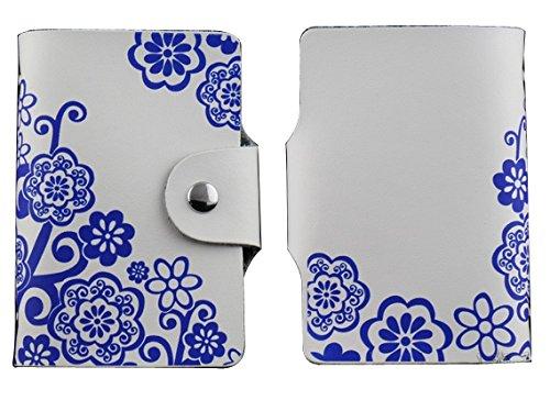 MYLB LEDER KREDITKARTENETUI KARTENETUI VISITENKARTENETUI mit Platz für 26 Kreditkarten bei Doppelbelegung mit Karten (QGY-BK) QHC