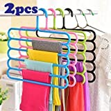 KINGS MAKER 5 Layer Plastic Hanger Closet Cupboard Clothes Accessory Organiser Wardrobe Space Saving Holder for Trousers…