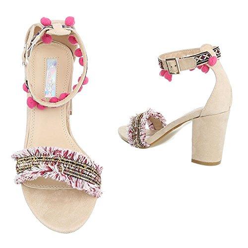 High Heel Sandaletten Damenschuhe Plateau Pump High Heels
