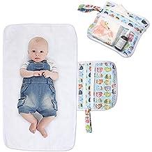 Luxja Manta Plegable para Cambiador Cambiante Portátil de Viaje para Bebé