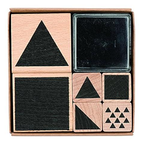 Rico Design Stempelset geometrische, quadratisch,