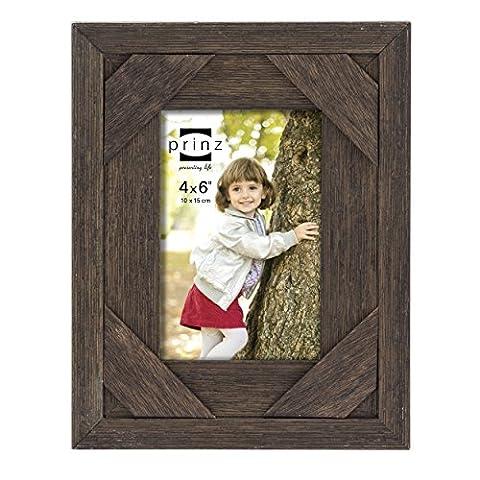 Prinz Barnes Antique Distressed Barnwood Frame, 4 by 6-Inch,