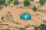 Stikkipix Safari Spielteppich | SM08 | Hochwertige Spiel-Matte für das Kinder-Zimmer | ideales Zubehör zu Spiel-Figuren von Schleich, Playmobil, Papo, Bullyland & Co | 150 x 100 cm
