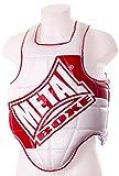 Metal Boxe - Corpetto di protezione per pugilato, bianco (bianco), M