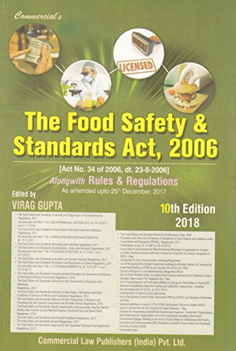 The Food Safety and Standards Act, 2006 (As Amended upto 25th December, 2017) 2018