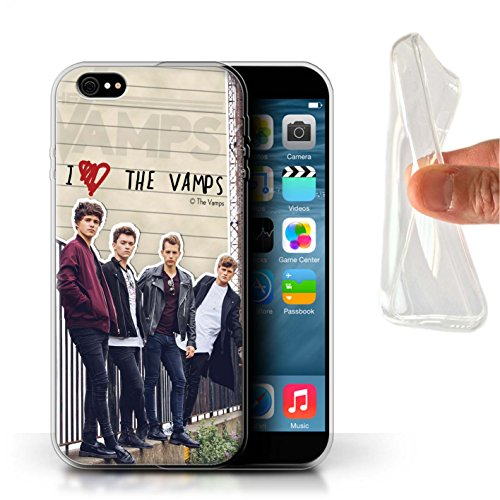 Offiziell The Vamps Hülle / Gel TPU Case für Apple iPhone 6S+/Plus / Pack 5pcs Muster / The Vamps Geheimes Tagebuch Kollektion Band