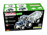Metal Construction Model Kit, NEW HOLLAND T5-115, Tractor with trailer, 581 parts, Tronico© Germany, including tools, metal mechanical construction, kids metal kits, metal mechanics kits