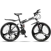 TopJiä 26 Pouces l'homme Vélos VTT,21 Vitesse Vélo De Montagne,Adolescents Extérieur Mouvement Vélo Pliant, Acier à Haute Teneur en Carbone Cadre Vélo De Route