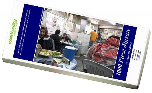 photo-jigsaw-puzzle-of-men-in-keffiyeh-eating-traditional-humus-in-hashem-restaurant