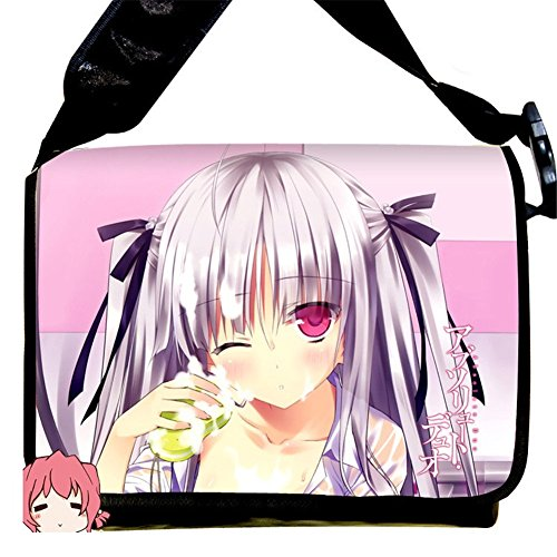 """MiracleL Canvas-Umhängetasche, """"Anime Cosplay"""" schwarz Absolute Duo 40cmx21cmx12cm (Duo Pack Travel)"""