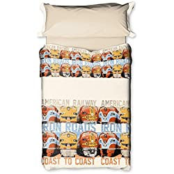 Burrito Blanco Juego de sábanas 085 Único de cama de 90x190/200 cm