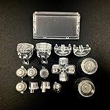 Dpad L2 R2 L1 R1 Trigger Buttons Dpad Thumbsticks für PS4 Pro Slim JDM 040 JDS040 JDM 050 JDS050 Controller farblos